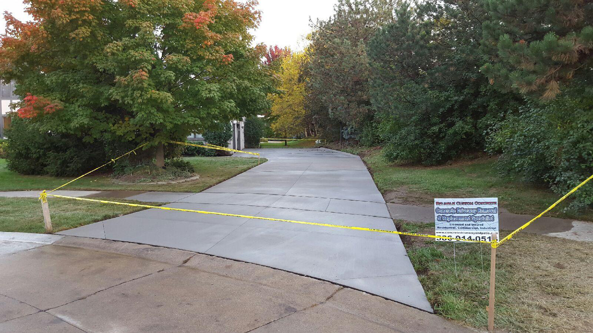 Cement Driveway Replacement Concrete Contractor Michigan
